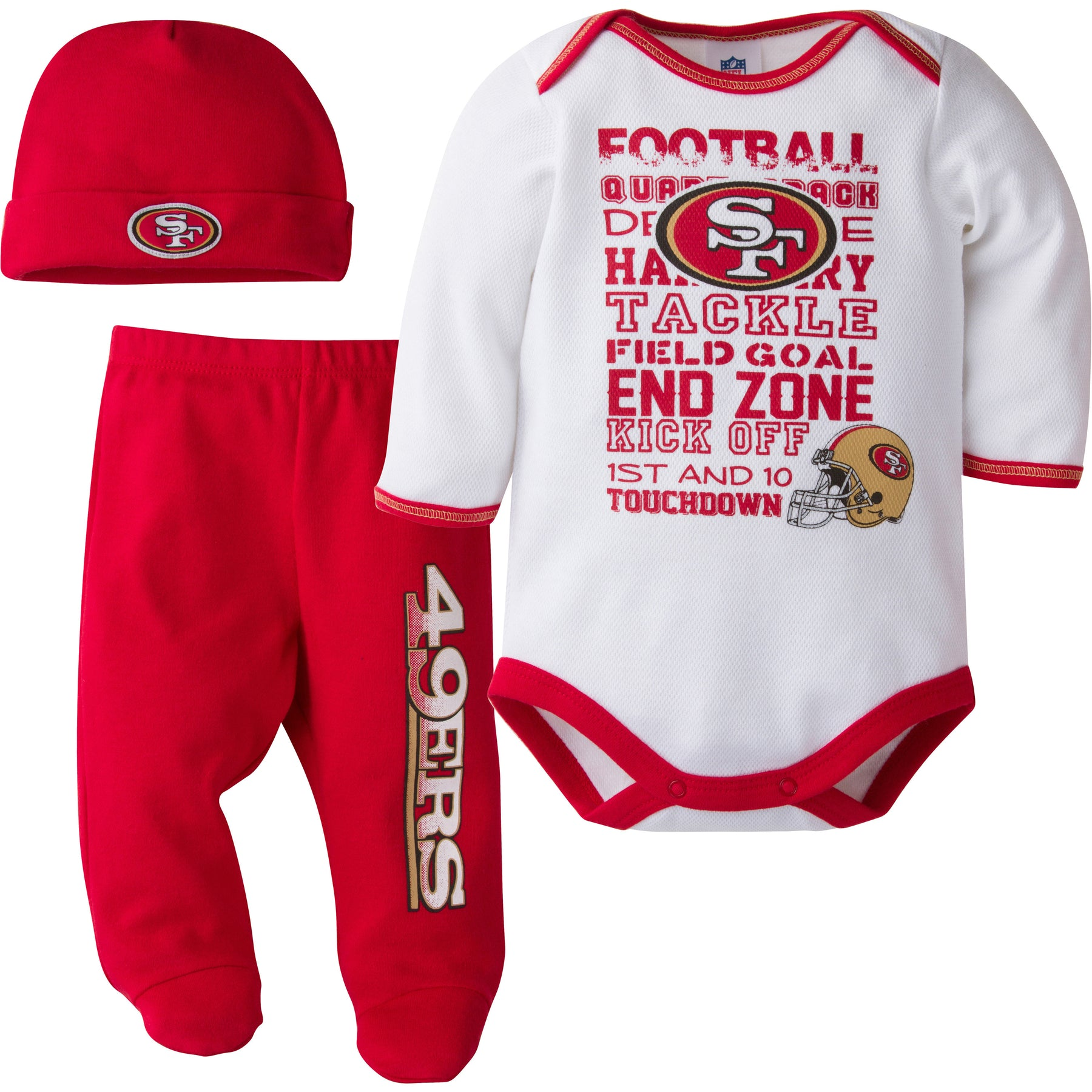 49ers Baby 3 Piece Outfit – babyfans 7222e2ff5