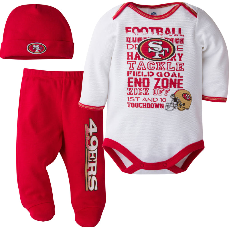 49ers Baby 3 Piece Outfit