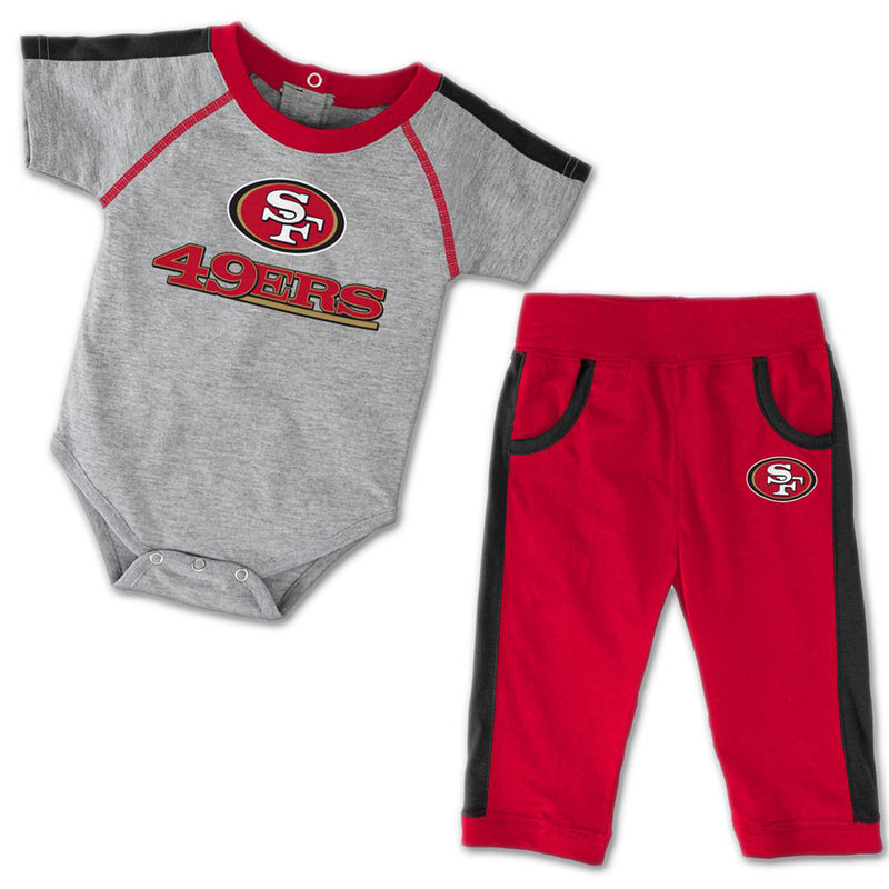 Baby 49ers Short Sleeved Creeper & Pants Outfit
