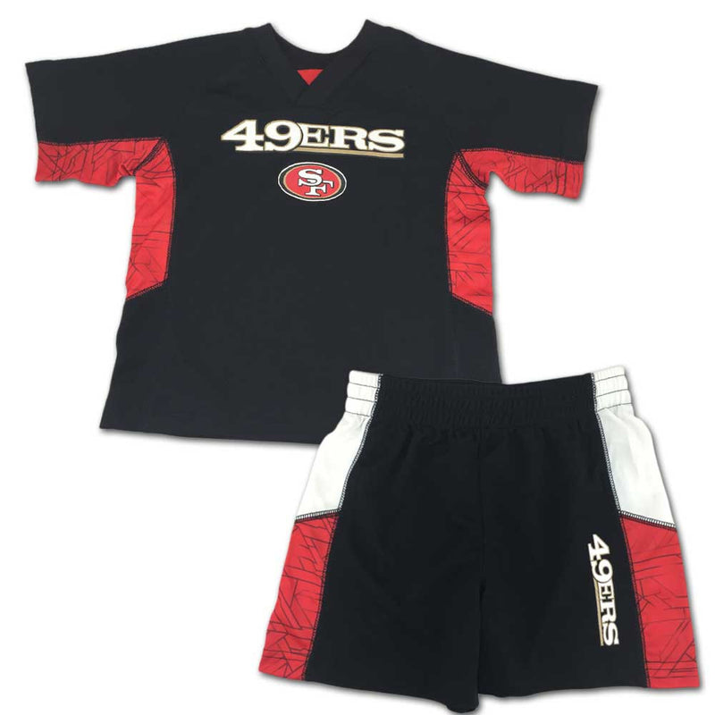 49ers Fan Touchdown Shorts Set