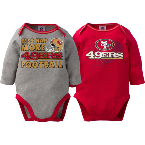 Baby 49ers Long Sleeve Onesie Two Pack