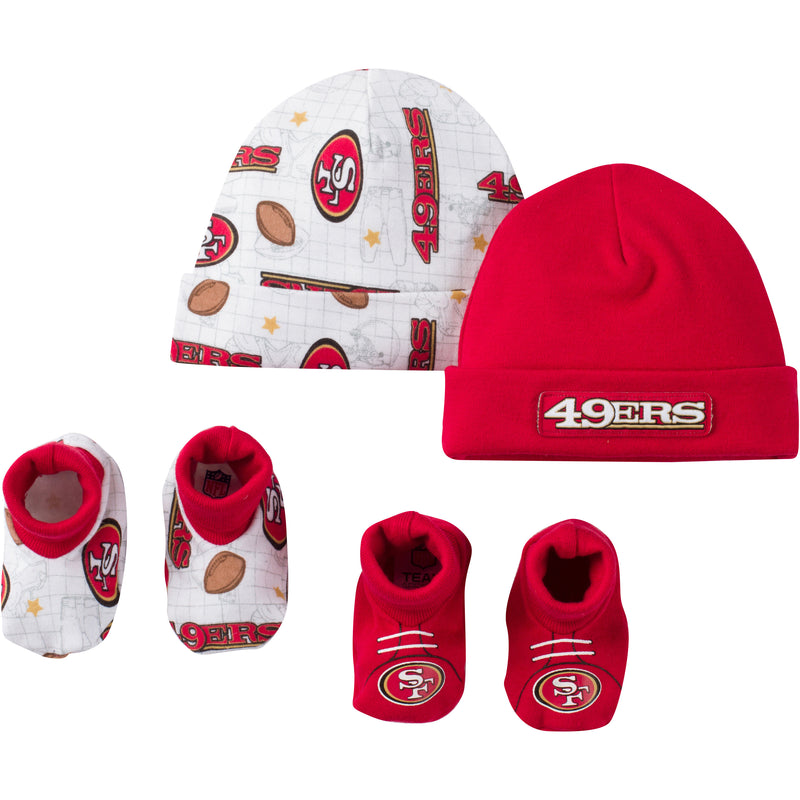 49ers Infant Logo Cap and Booties Set