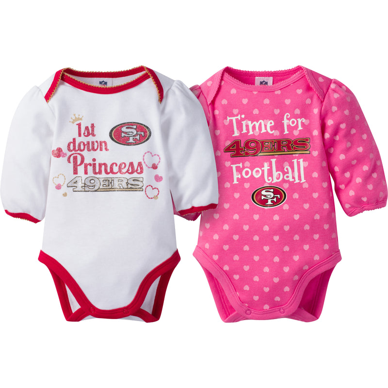 49ers Baby Princess Bodysuit Set
