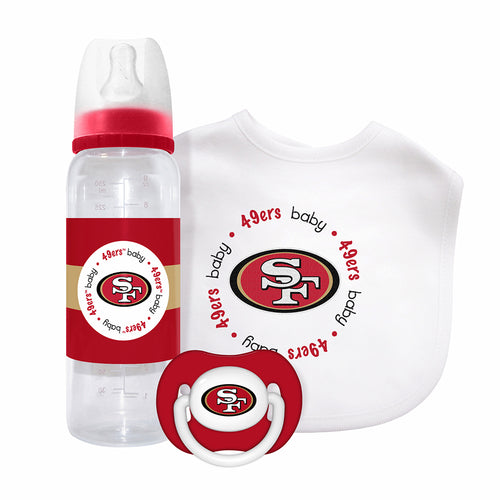 49ers Pacifier, Bib and Bottle Set