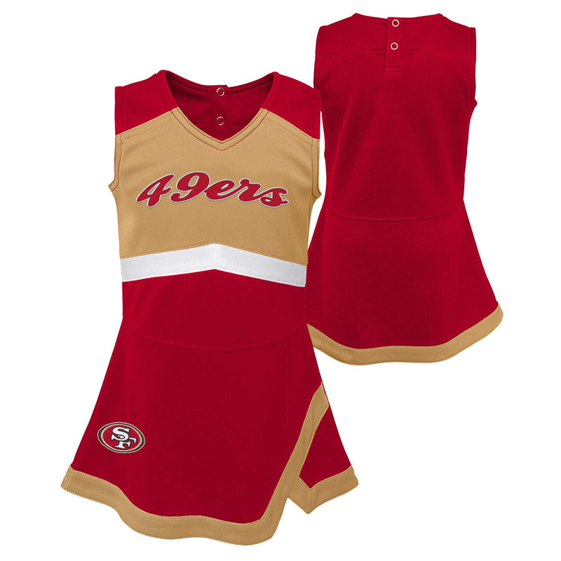 San Francisco 49ers Toddler Cheerleader Dress