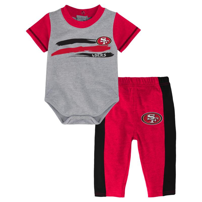 49ers Onesie and Pants Outfit