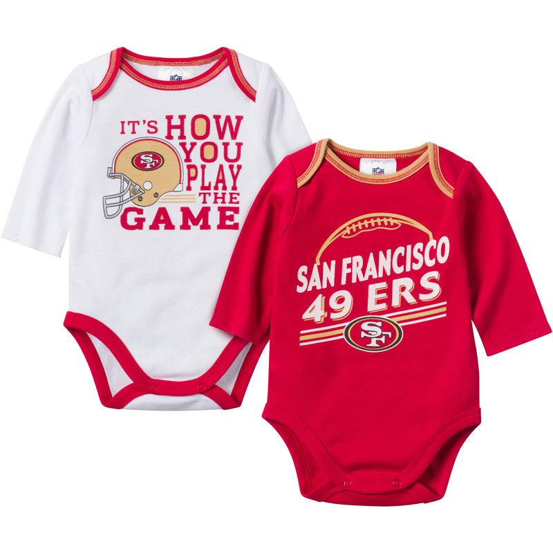 Baby 49ers Fan Long Sleeve Onesie 2 Pack