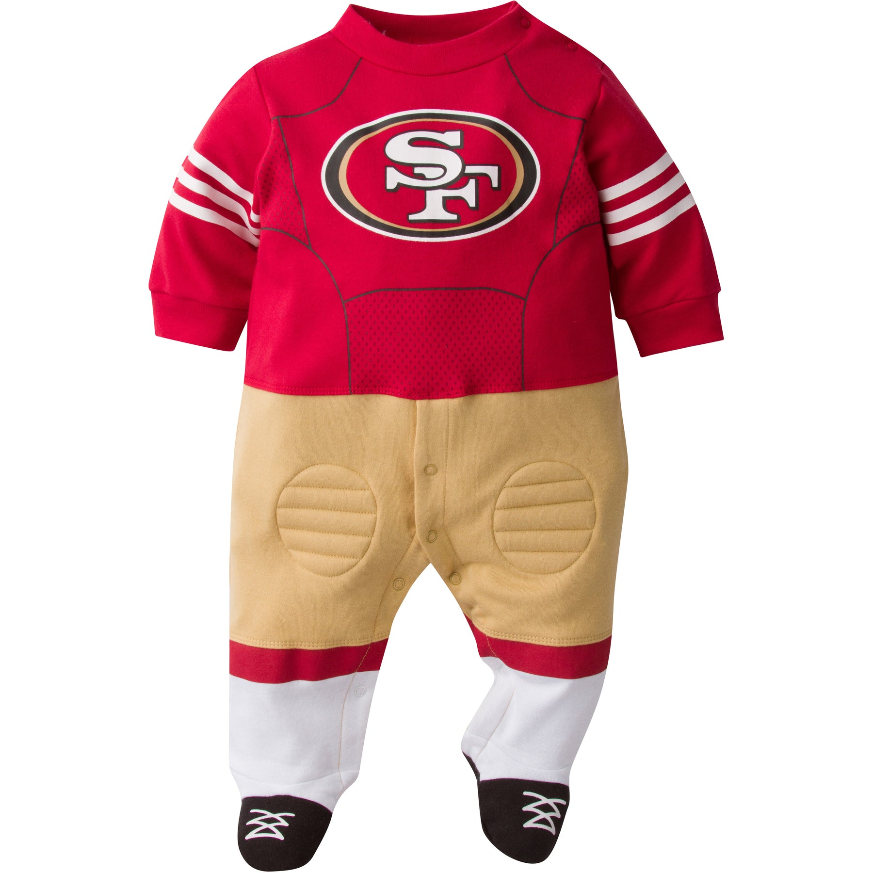 a8735125e37 ... Clothes San by NoahsBoytiques Official San Francisco 49ers Baby Uniform  Sleeper ...