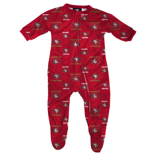 49ers Infant Zip Up Pajamas