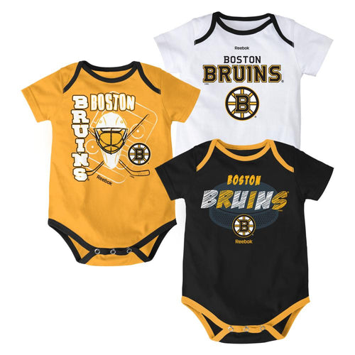Bruins Hockey Onesies 3-Pack