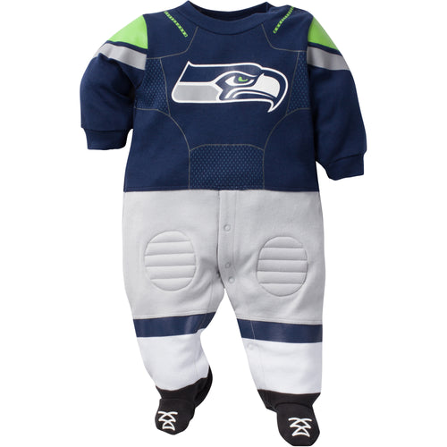 Seattle Seahawks Baby Footed Footysuit