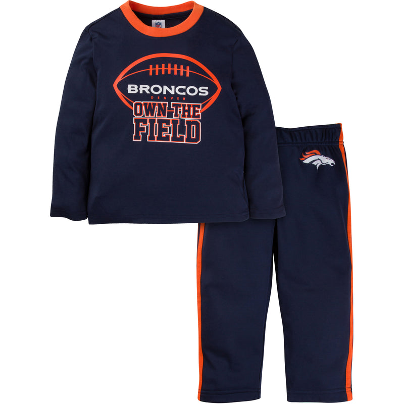 Broncos Long Sleeve Shirt and Pants Set (12M-4T)