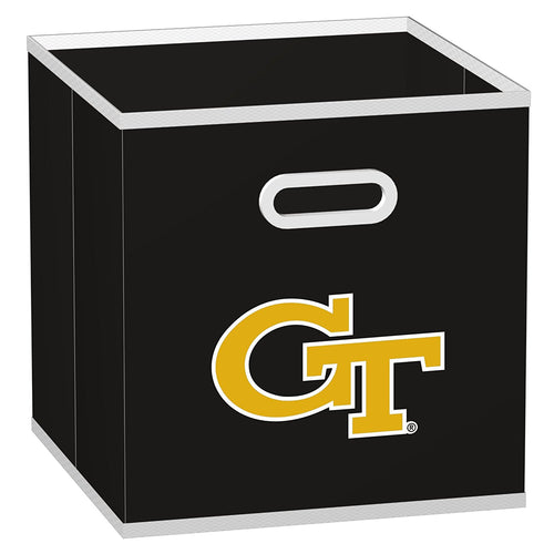 Six (6) Georgia Tech NCAA Storage Cubes