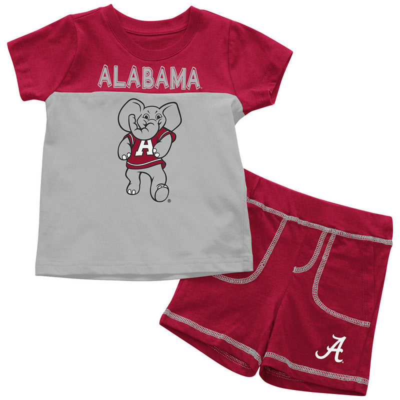 Crimson Tide Infant Mascot Shorts and Tee Set