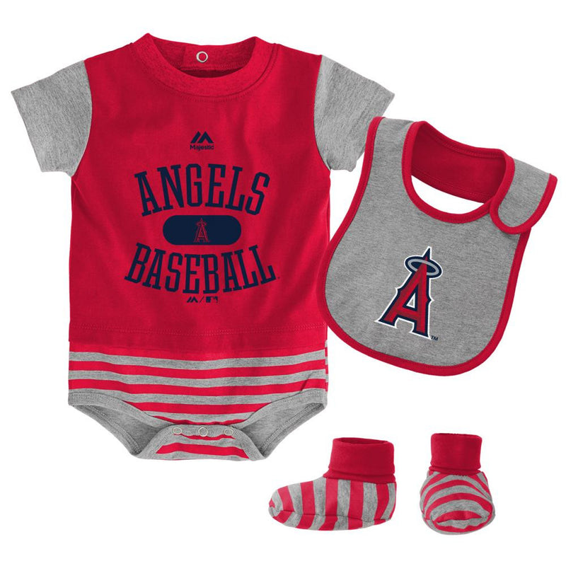 Angels Baby Onesie, Bib and Bootie Set