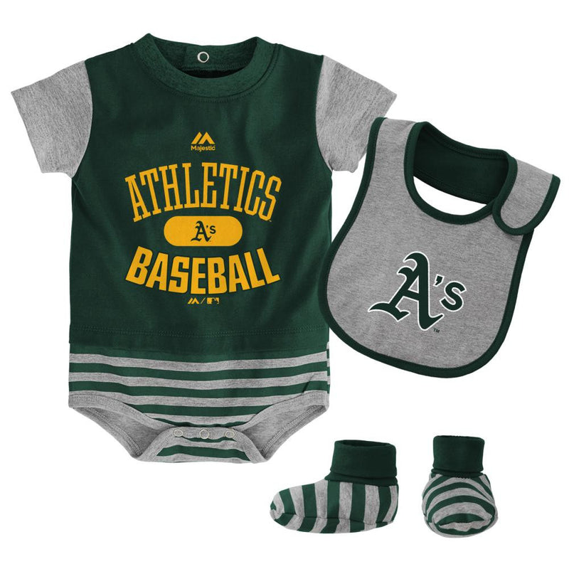 Athletics Baby Onesie, Bib and Bootie Set