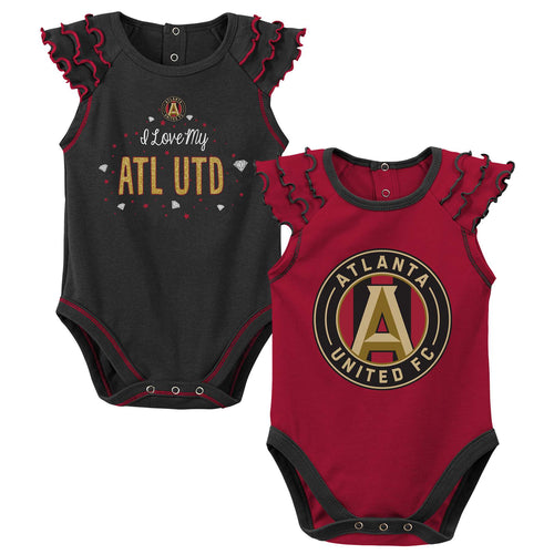 Atlanta United Diamond Girl 2 Piece Bodysuit Set