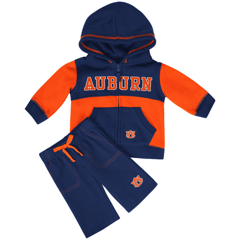 War Eagle Baby Color Block Fleece Set