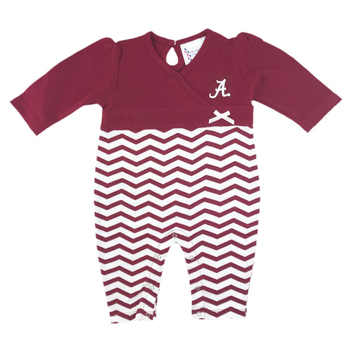 Alabama Chevron Baby Girl Coverall