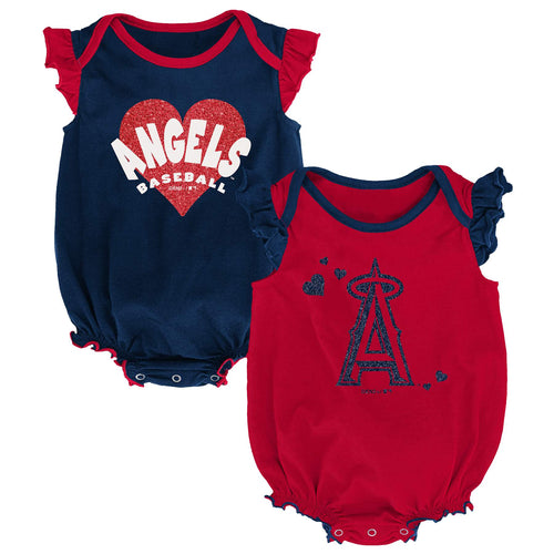 Angels Baseball Girl Ruffled Bodysuits