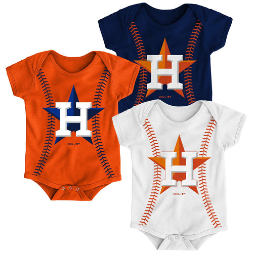 Astros Baseball Stitches Creeper Set