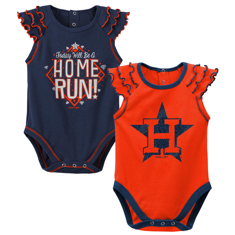 Astros Diamond Girl 2 Piece Bodysuit Set