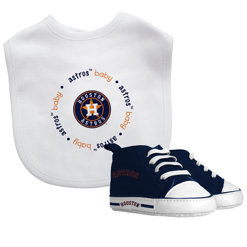 Astros Baby Bib with Pre-Walking Shoes