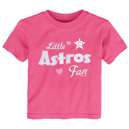 Pink Little Astros Baseball Fan Tee
