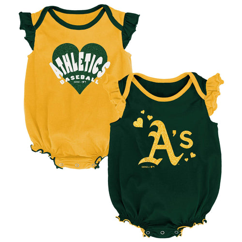 Athletics Baseball Girl Ruffled Bodysuits