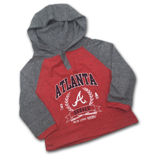Braves Toddler Color Blocked Two Button Hoodie