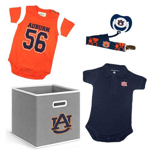 Auburn Baby Boy Gift Set with Storage Cube