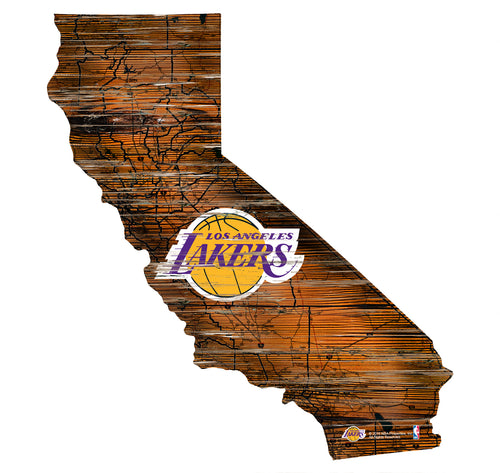 Lakers Room Decor - State Sign