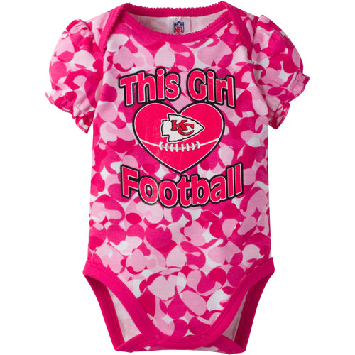 Kansas City Chiefs Girls Camo Bodysuit