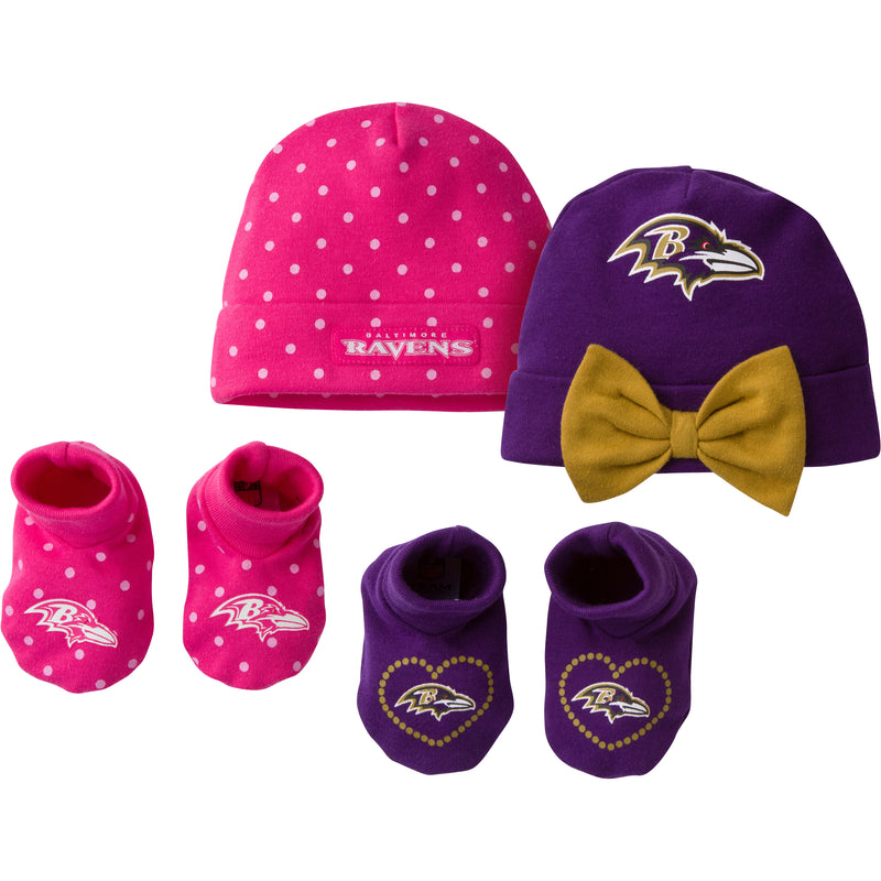 Ravens Sweetheart Caps and Booties Set