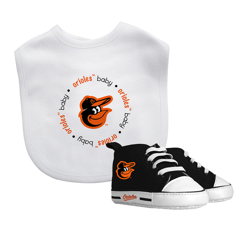 Orioles Baby Bib with Pre-Walking Shoes