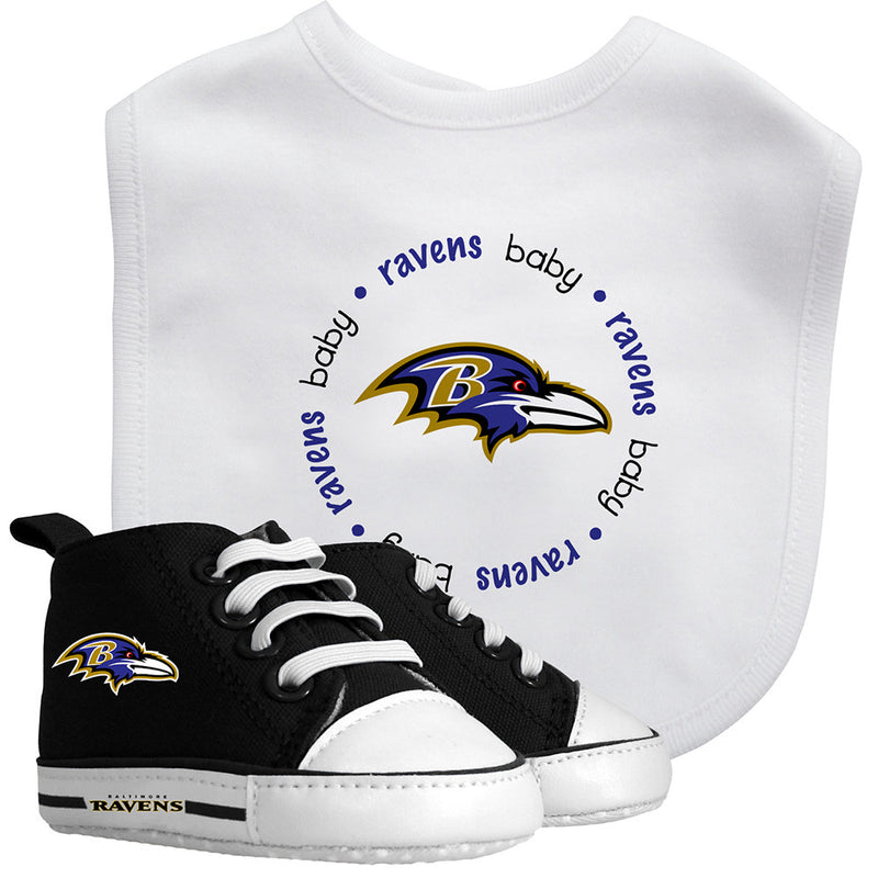 Ravens Baby Bib with Pre-Walking Shoes