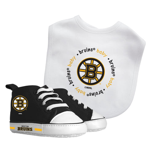 Boston Bruins Baby Bib with Pre-Walking Shoes