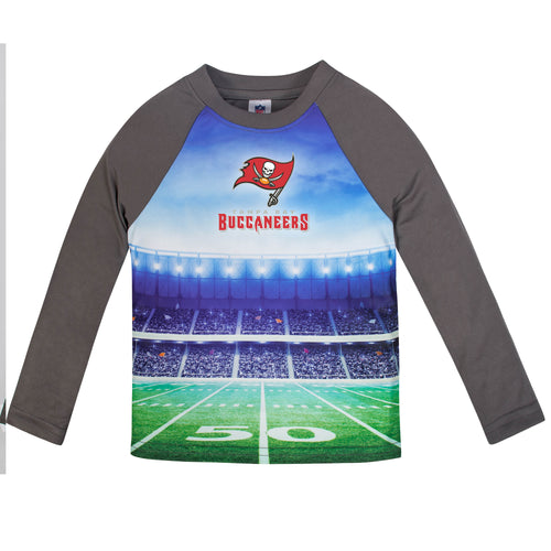 Buccaneers Long Sleeve Football Performance Tee