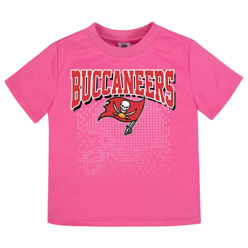 Tampa Bay Buccaneers Girls Short Sleeve Tee Shirt