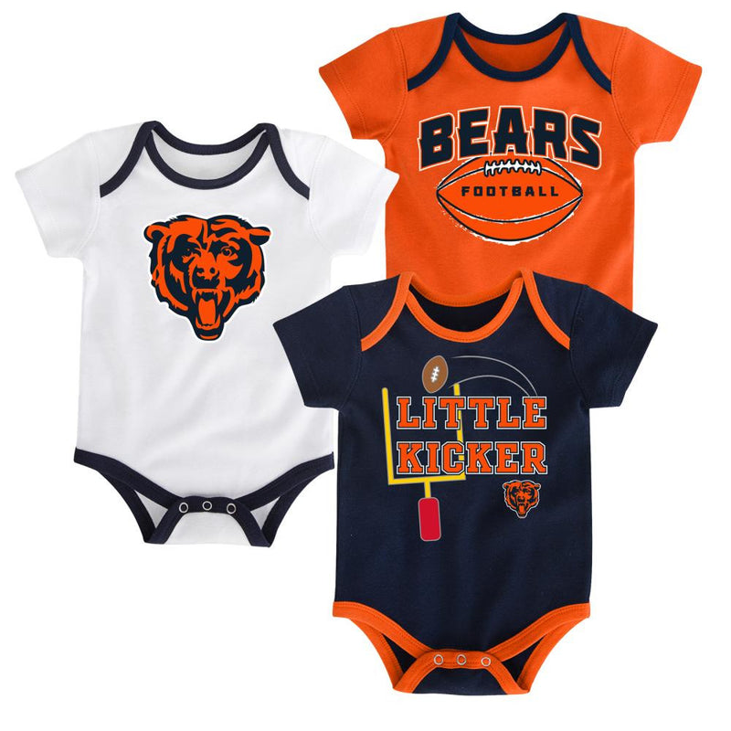 Bears Little Kicker Onesie 3-Pack
