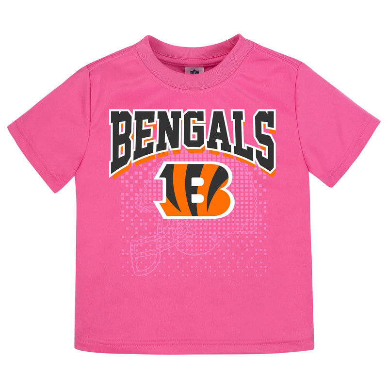 Cincinnati Bengals Girls Short Sleeve Tee Shirt