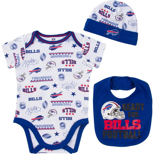Bills Baby Boy Bodysuit, Cap and Bib Set