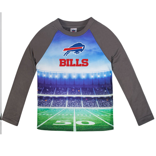 Bills Long Sleeve Football Performance Tee