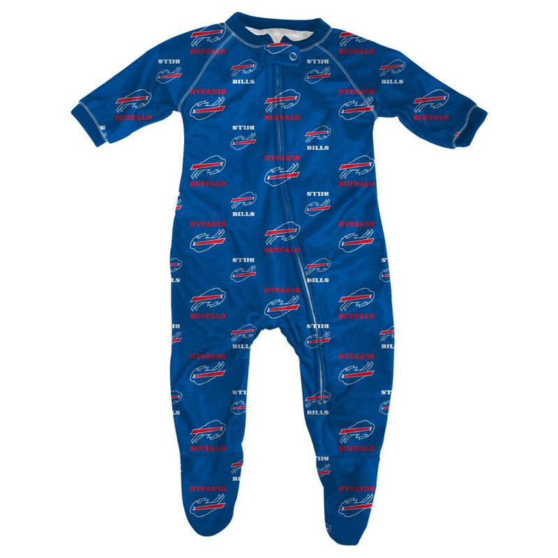 Bills Infant Zip Up Pajamas