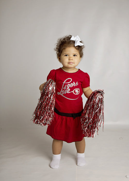 49ers Girl Drop Waist Dress (12M-4T)