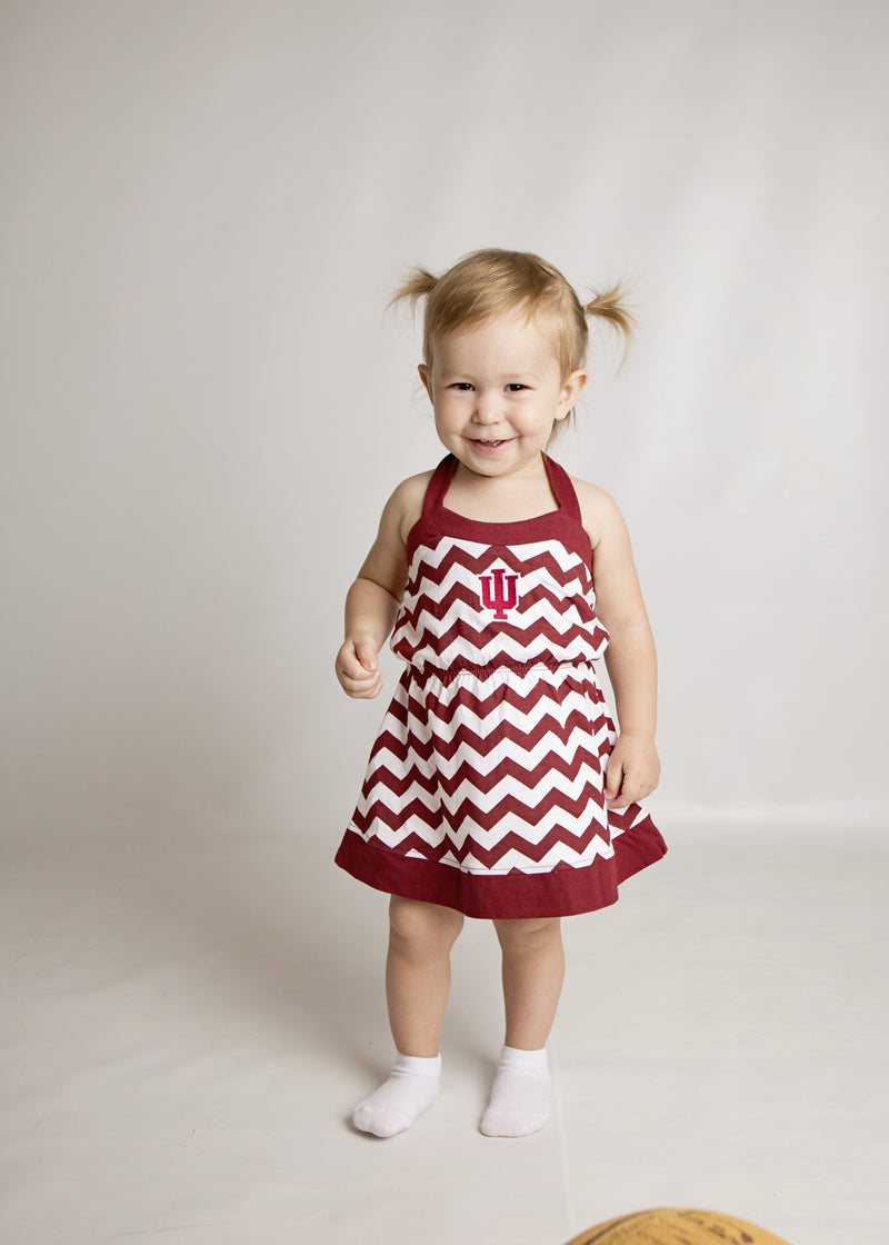 Indiana Girl Chevron Print Halter Sundress
