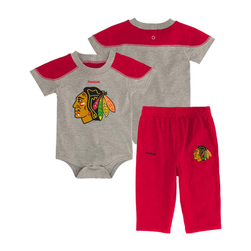 Blackhawks Future Star Short Sleeve Onesie and Pant Set