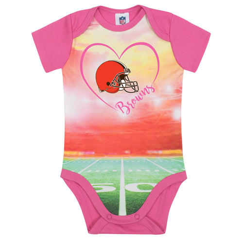Browns Infant Girl Pink Field Bodysuit
