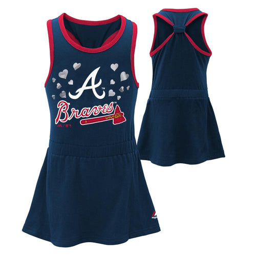 Braves Toddler Girl Criss Cross Tank Dress