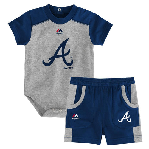 Braves Fan Onesie and Short Set